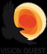 logo vision quest, orel a slunce
