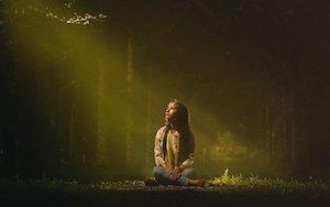 Žena sama v lese, vision quest